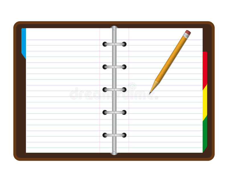 Download Realistic note book stock vector. Image of book, arrange - 19094945