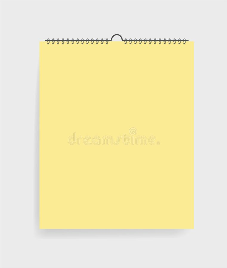 Realistic notebook in mockup style. Blank notepad with spiral. Template of empty  sketchbook on  grey background. vector eps10 stock illustration