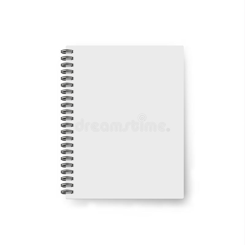 Realistic Notebook Template. Blank Cover Design. Mock Up Notebooks ...