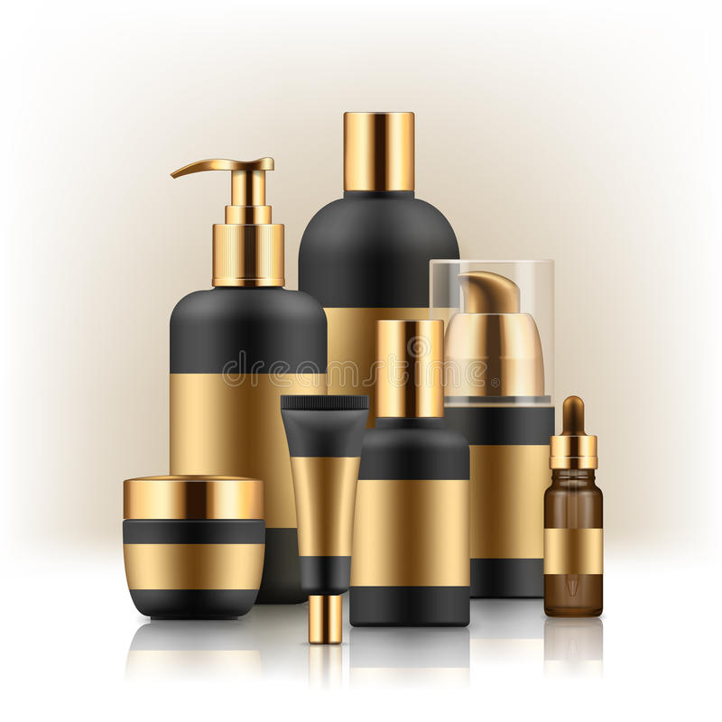 Realistic package for luxury cosmetic stock illustration