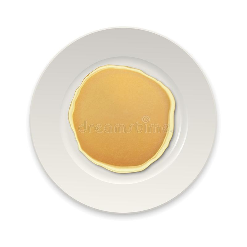 Free Realistic Pancake On A White Plate Closeup Isolated Stock Photos - 103367733