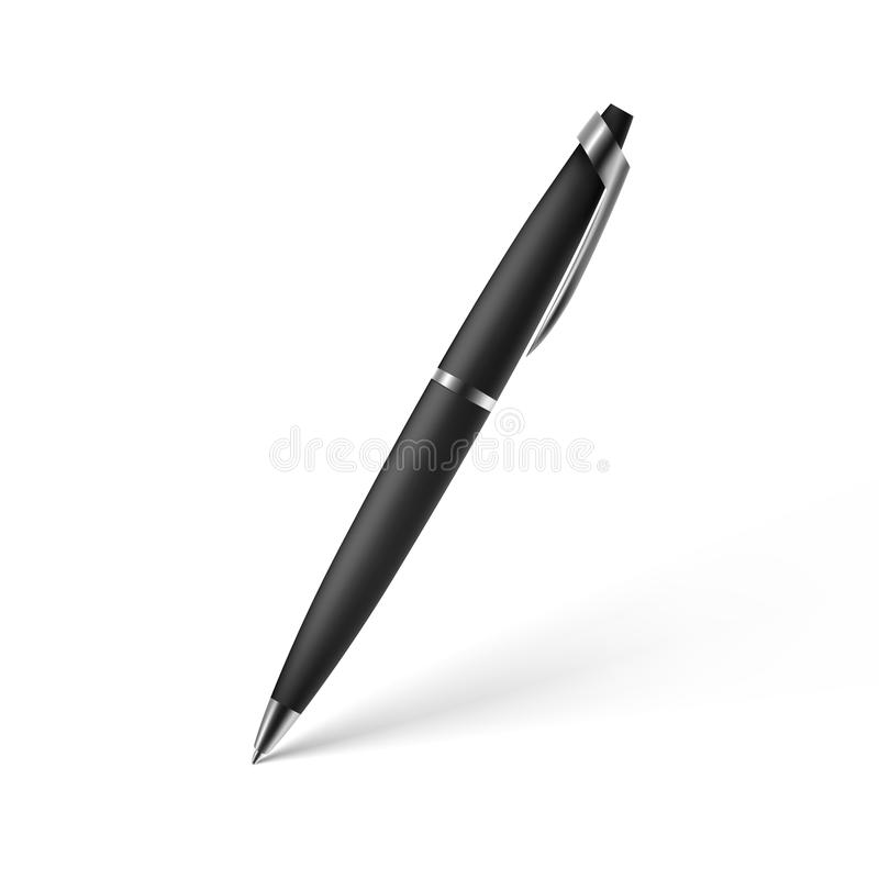 Realistic pen. Illustration royalty free illustration
