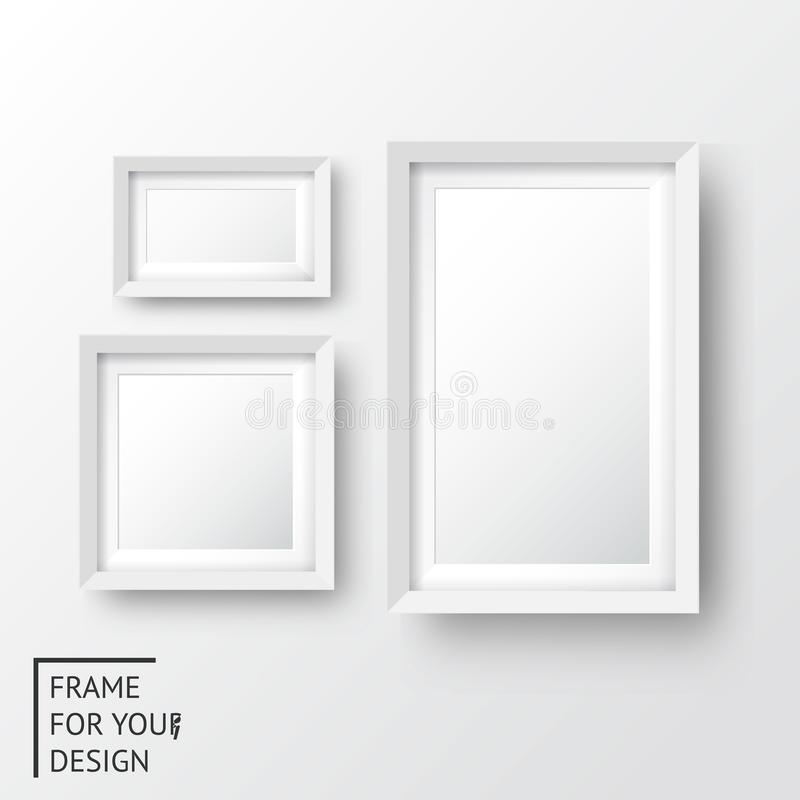 Realistic picture frame. Background made in vector stock illustration