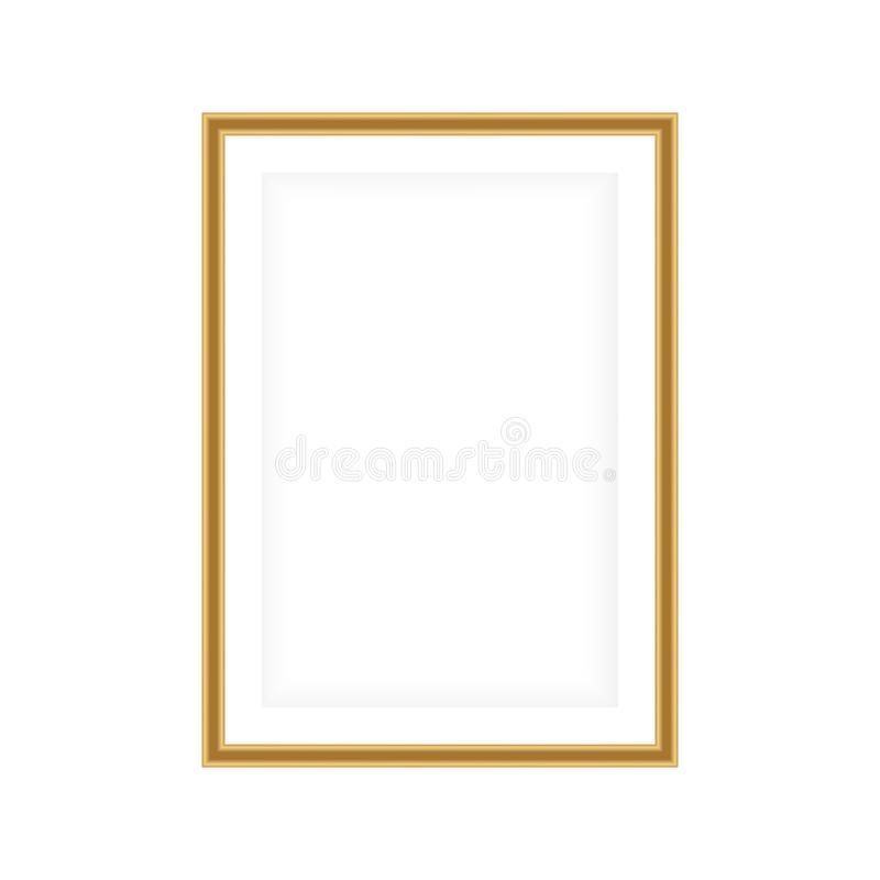 Realistic picture frame isolated on white background. Perfect for your presentations. Vector illustration EPS 10 vector illustration