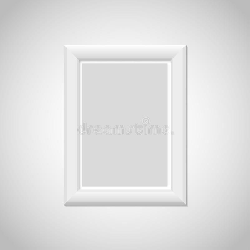 Realistic picture frame with shadow. Vector illustration vector illustration