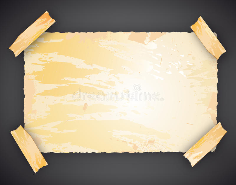 Download Realistic Piece Of Paper With Space For Text Stock Illustration - Image: 15013187