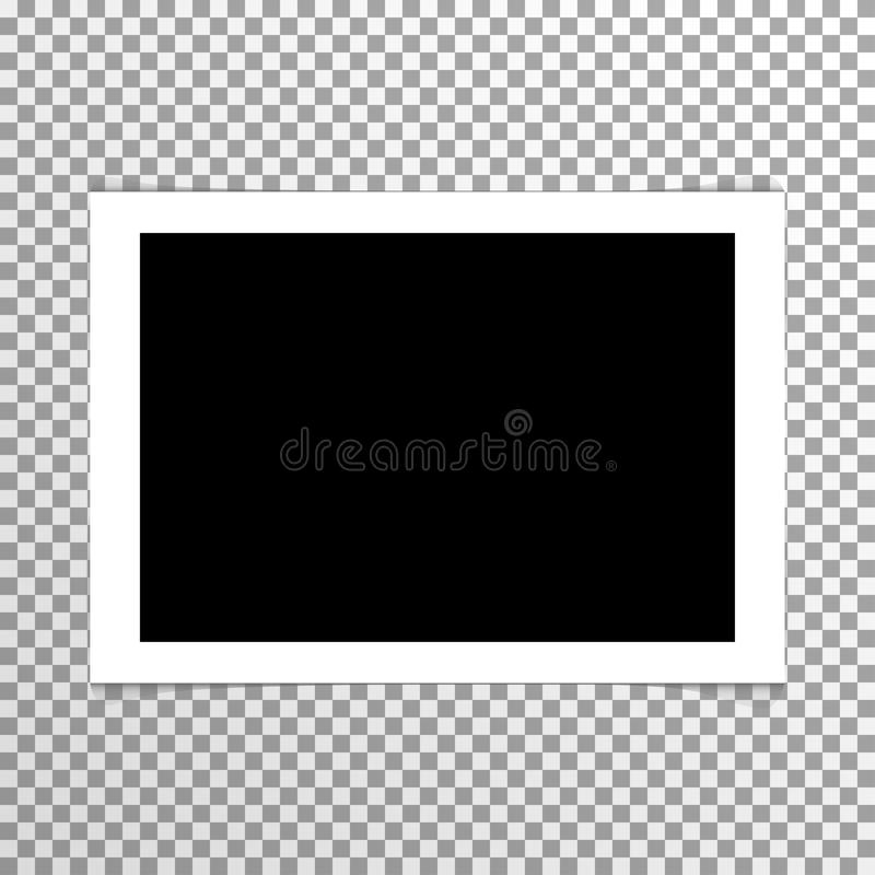 Realistic plain blank photo with frame vector stock illustration