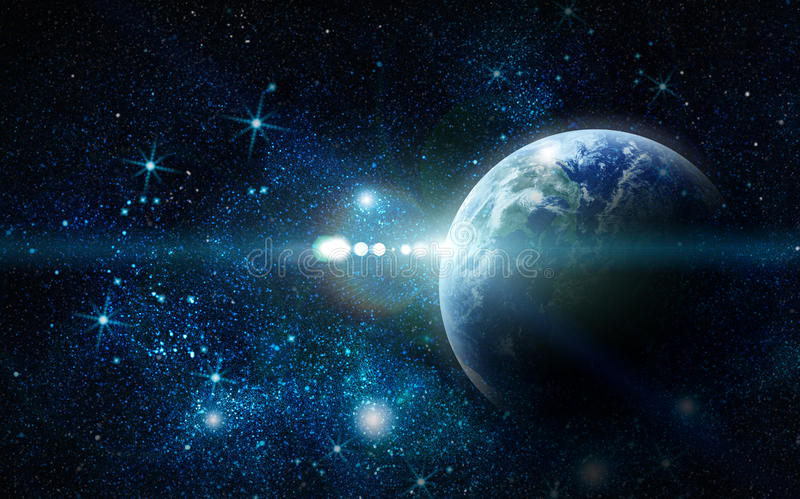 Realistic planet stock illustration