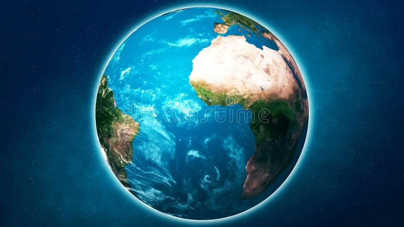 Realistic Planet Earth from space. Abstract Background royalty free stock photos