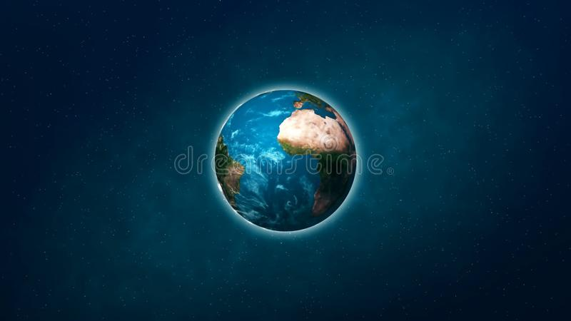 Realistic Planet Earth from space. Abstract Background royalty free stock photo