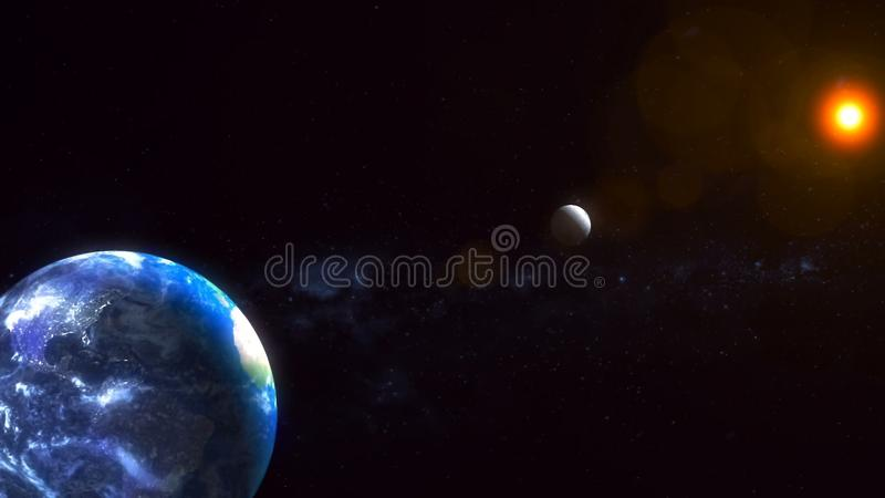 Realistic Planet Earth from space. Abstract Background royalty free stock photography