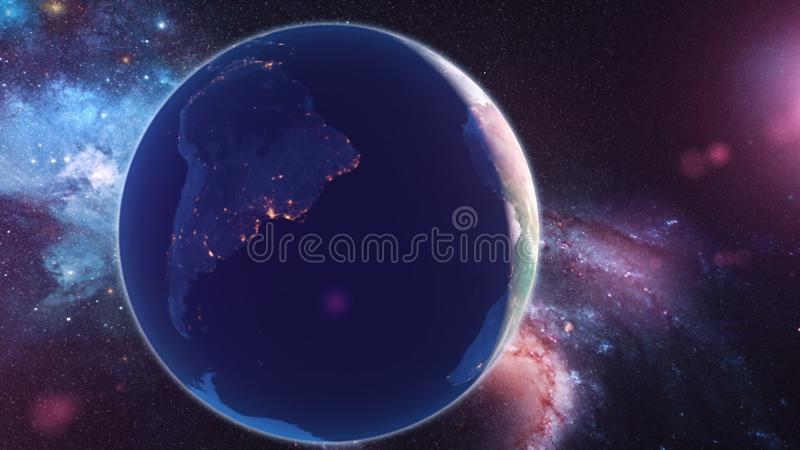 Realistic Planet Earth from space. Abstract Background stock photography