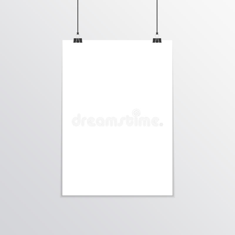 Realistic poster mockup A4. stock illustration