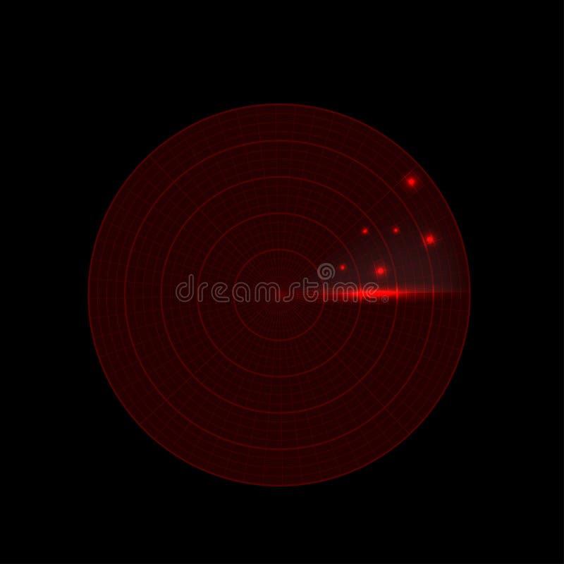 Realistic radar illustration stock illustration