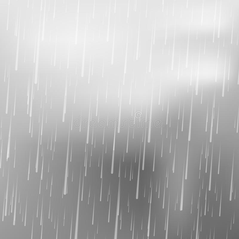 Realistic rain drops. Rain . Vector illustration. vector illustration
