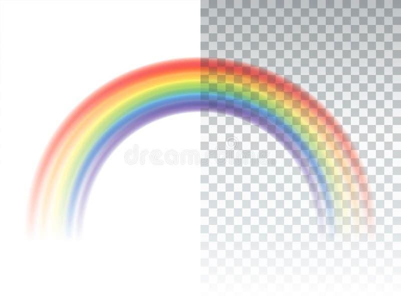 Realistic Rainbow vector vector illustration