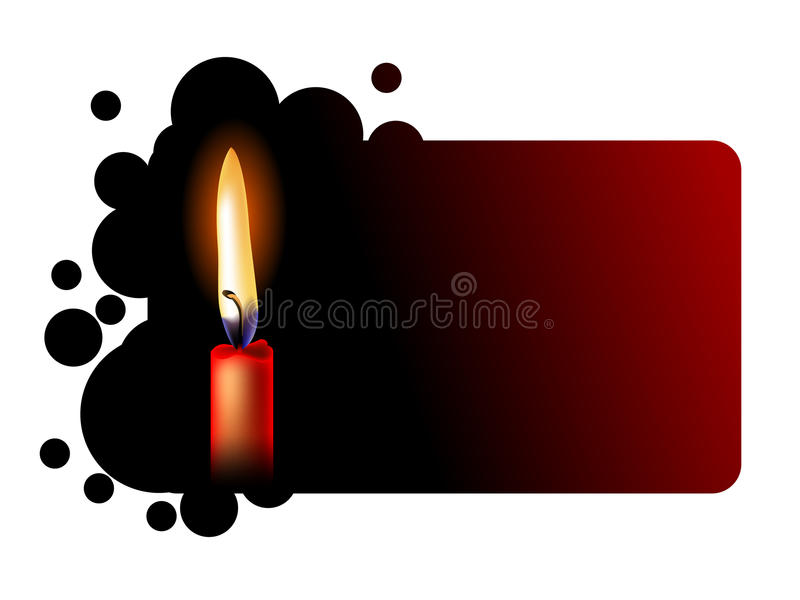 Download Realistic Red Candle On Black Stock Vector - Image: 21235750