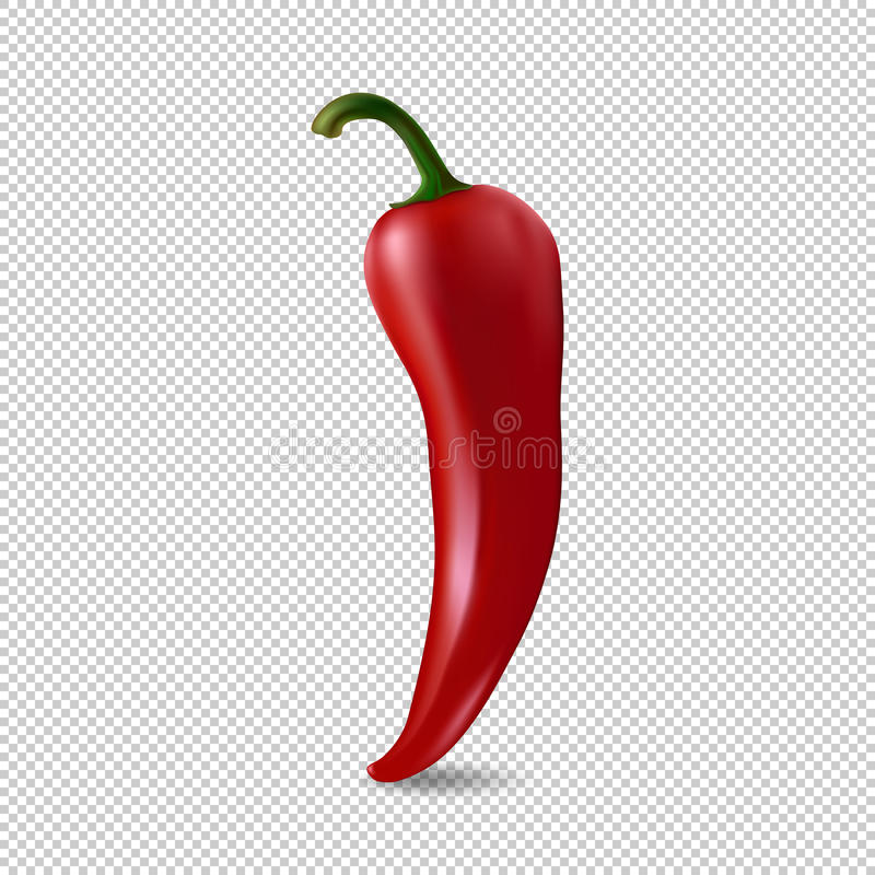 Realistic Red Chilli Pepper Icon Isolated On Transparent Background ...
