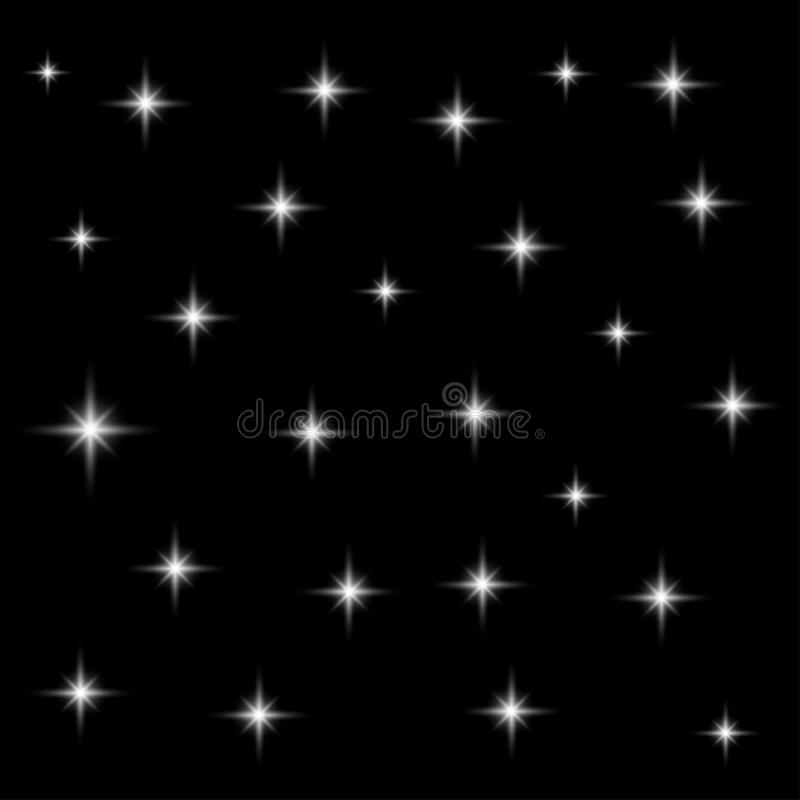 Realistic seamless vector image of the night sky with starsblack, sky, background, wallpaper, cold, dust, white, sparkle, cosmic, stock illustration