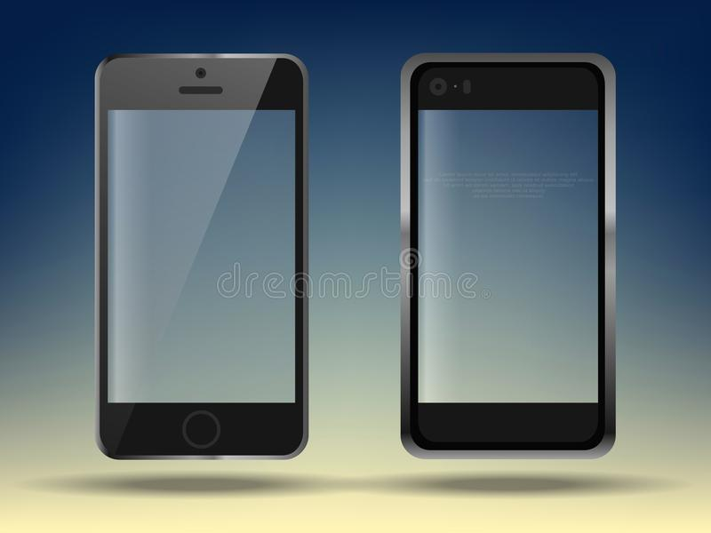 Realistic set mobiles smartphone on transparent background, 3d realistic smart phone in different angles. Realistic set mobiles smartphone on transparent vector illustration
