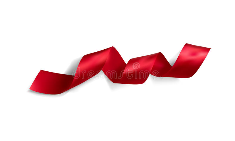 Realistic silk vector ribbon. Silk vector ribbon made with gradient mesh isolated on white background stock illustration