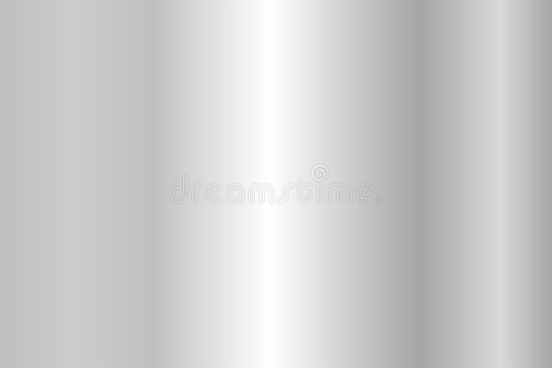 Realistic silver texture. Shiny metal foil gradient stock illustration