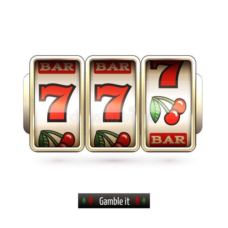 Realistic Slot Machine Isolated Stock Vector ...