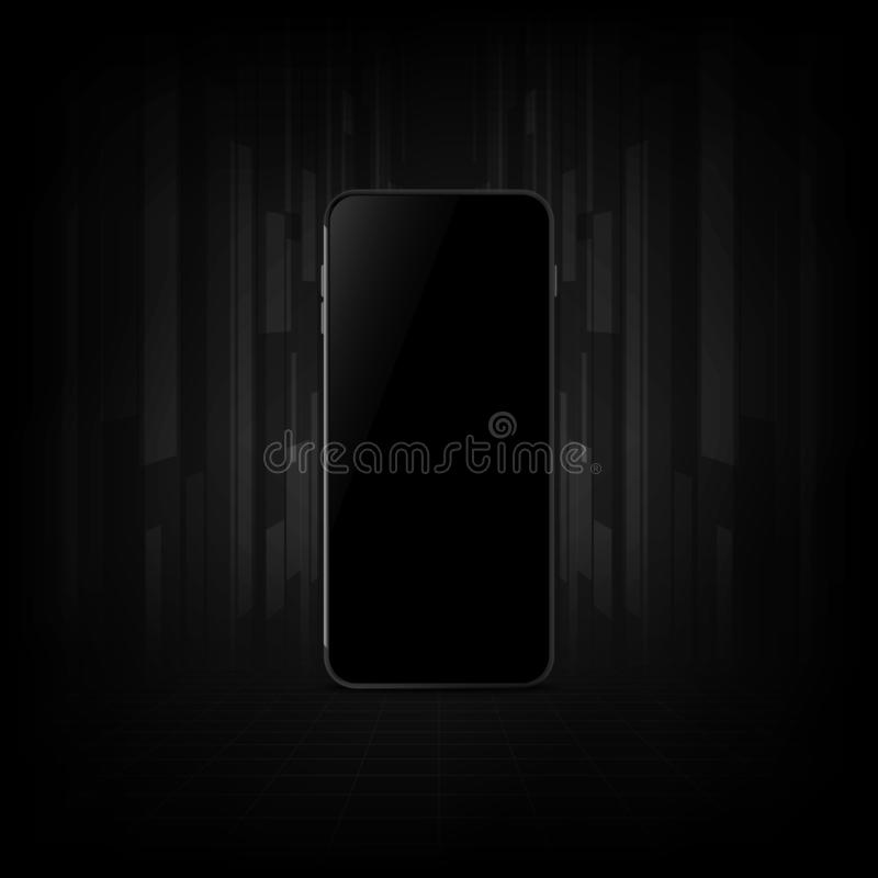 Realistic smartphone with blank screen. vector illustration eps10. Realistic smartphone with blank screen. concept business. vector illustration eps10 stock illustration