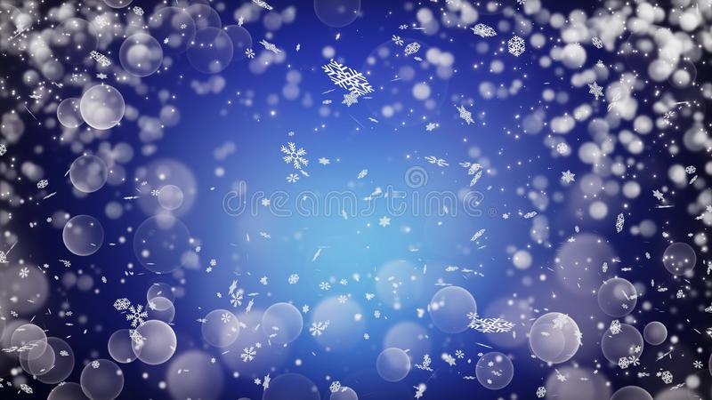 Realistic snow . Abstract winter background. royalty free illustration