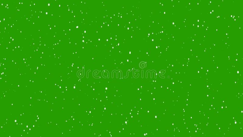 Realistic snow falling. Flakes to down, Christmas rendering with alpha channel.  stock photography