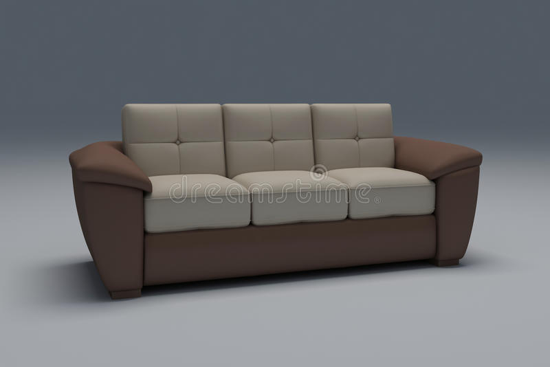 Download Realistic sofa stock illustration. Image of seater, single - 21388658