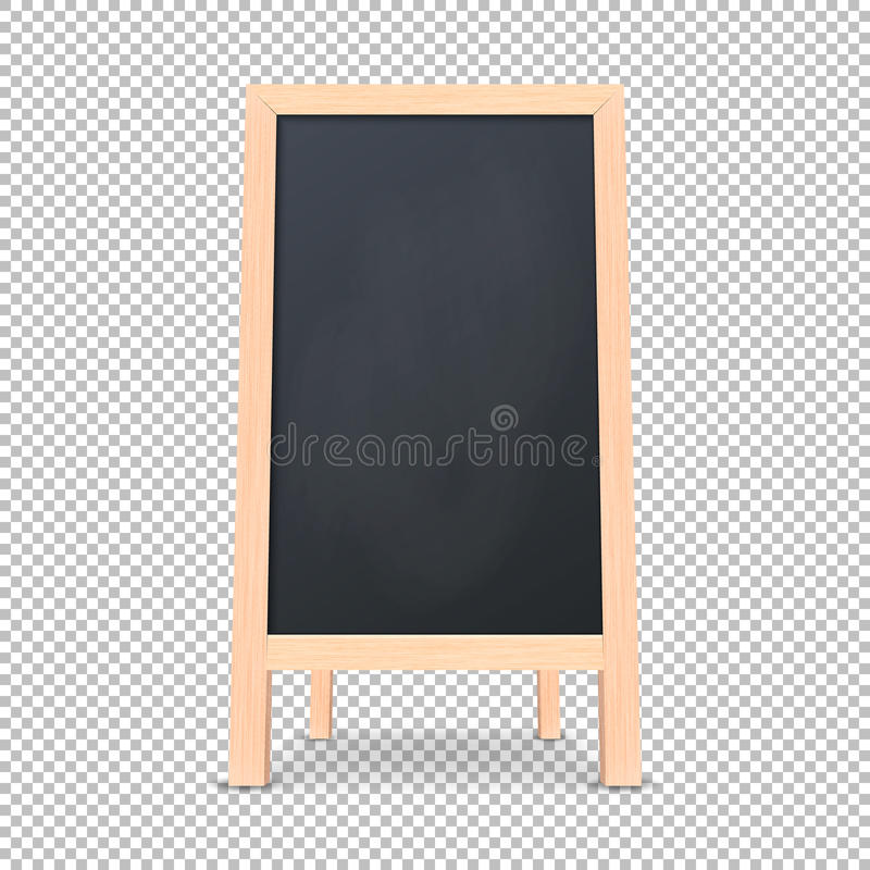 Realistic special menu announcement board icon. Vector clean restaurant outdoor blackboard background. Mockup of stock illustration