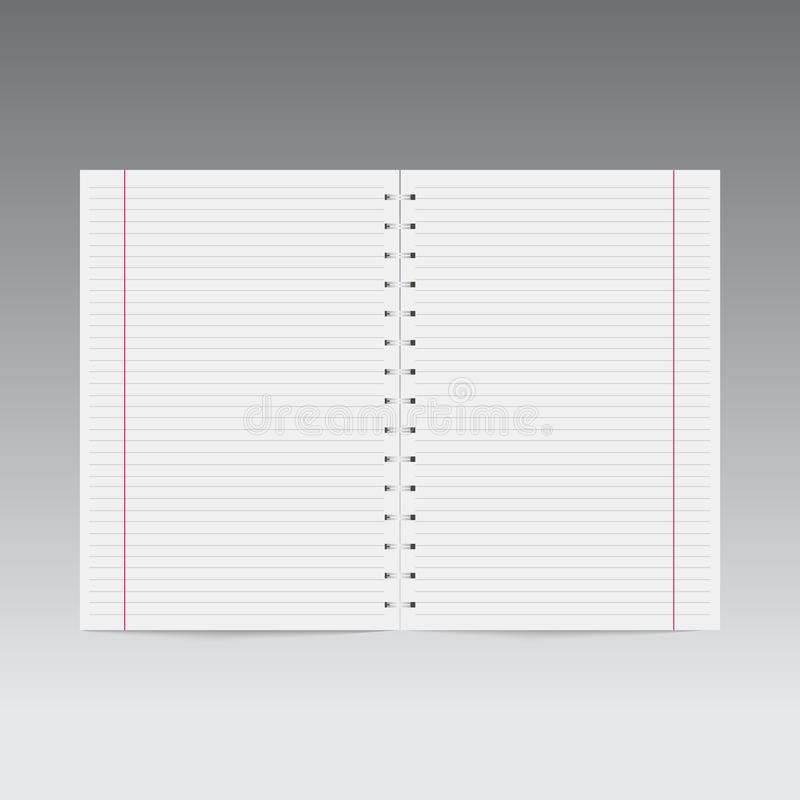 Realistic spiral notebook template. Vector. Realistic spiral notebook template for your design. Vector vector illustration