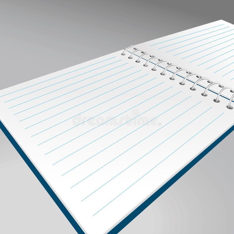 Realistic spiral notebook. Vector illustration. Vector royalty free illustration