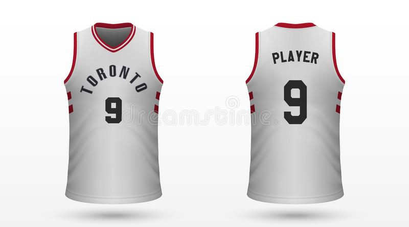 Realistic sport shirt. Toronto Raptors, jersey template for basketball kit. Vector illustration royalty free illustration