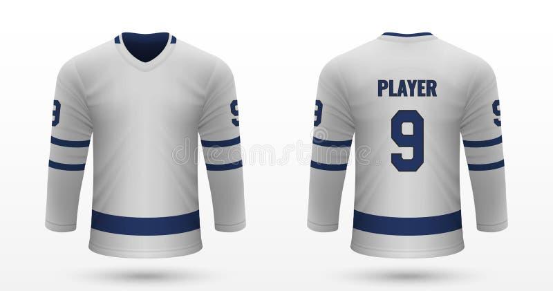 Realistic sport shirt. Toronto Maple Leafs, jersey template for ice hockey kit. Vector illustration stock illustration