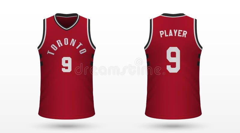 Realistic sport shirt. Toronto Raptors, jersey template for basketball kit. Vector illustration stock illustration