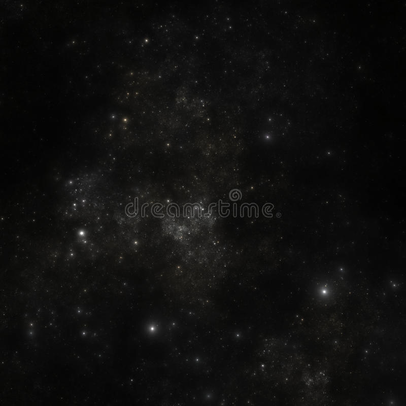 Realistic star field. Computer generated illustration of a realistic star field vector illustration