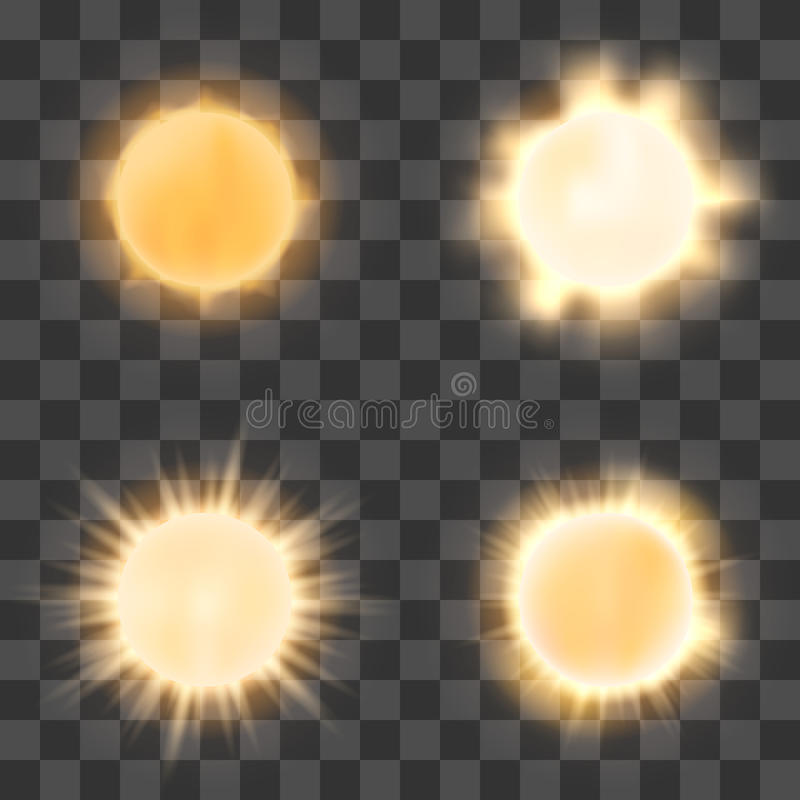 Free Realistic Sun On Transparent Background Royalty Free Stock Images - 70536659