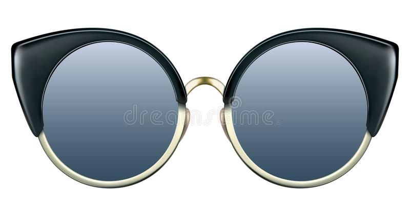 Download Sunglasses With Blue Lens And Gold Metalic Frame Stock Vector - Illustration of hipster, lens: 108887565