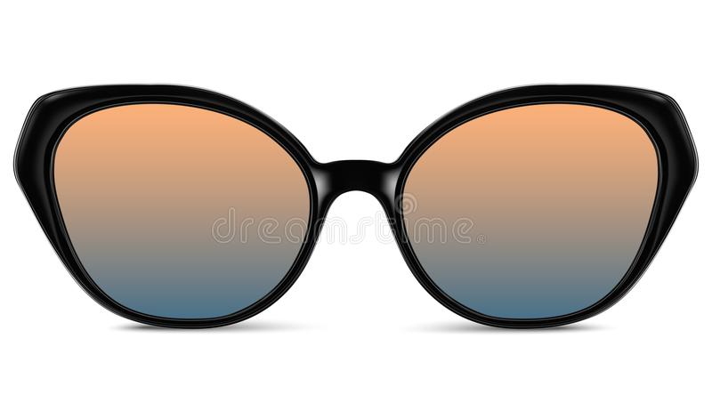 Download Sunglasses With Blue Lens And Black Plastic Frame Stock Vector - Illustration of eyesight, party: 108835012