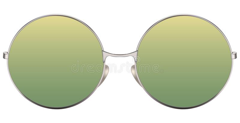 Download Sunglasses With Green Lens And Metallic Frame Stock Vector - Illustration of modern, design: 108935485
