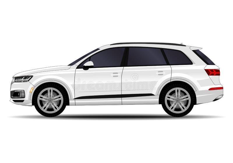 realistic SUV car royalty free illustration