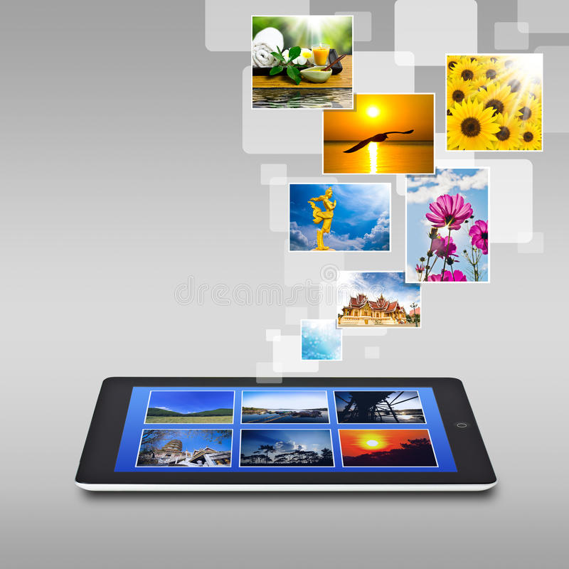 Realistic Tablet Pc Computer With Blank Screen Stock Image