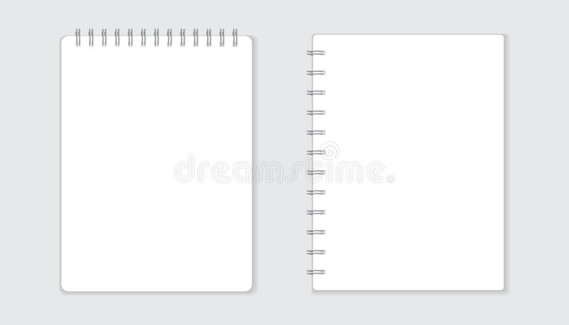 Realistic template notepad with spiral blank cover design scho download realistic template notepad with spiral blank cover design scho stock vector illustration accmission Choice Image