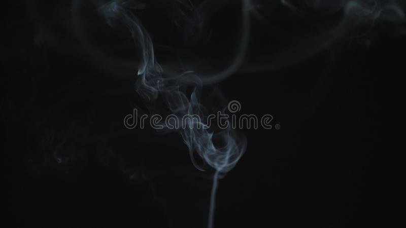 Realistic thin smoke with isolated on alpha-channel with transparency. 4k royalty free stock images