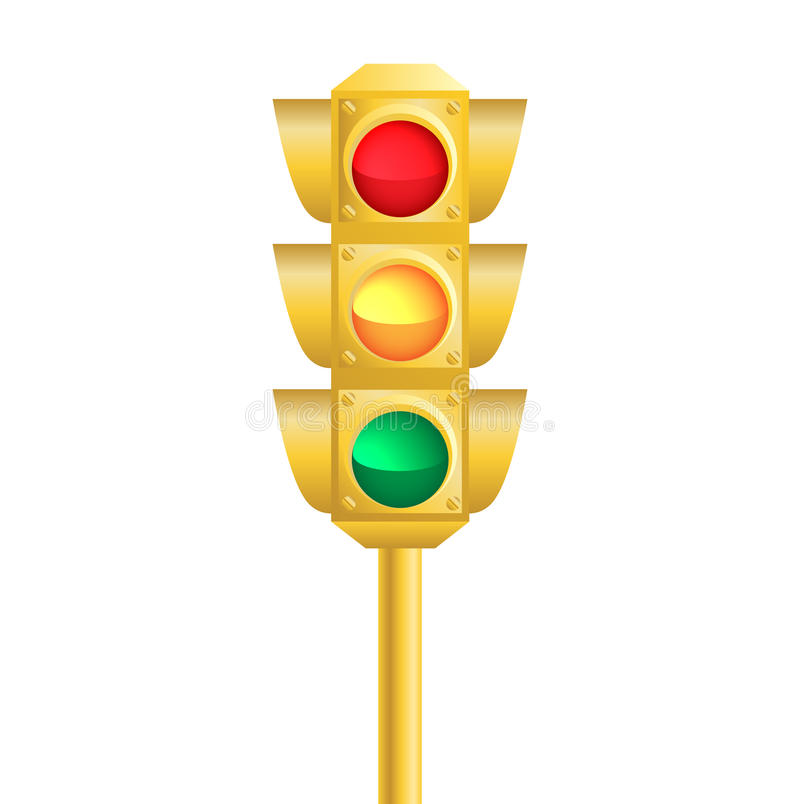 Realistic traffic light royalty free stock photography