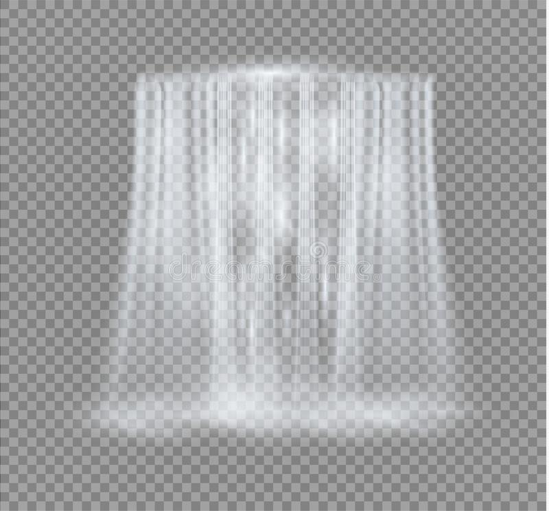 Free Realistic Transparent, Nature, Stream Of Waterfall With Clear Water And Bubbles Isolated On Transparent Background Royalty Free Stock Image - 121569246