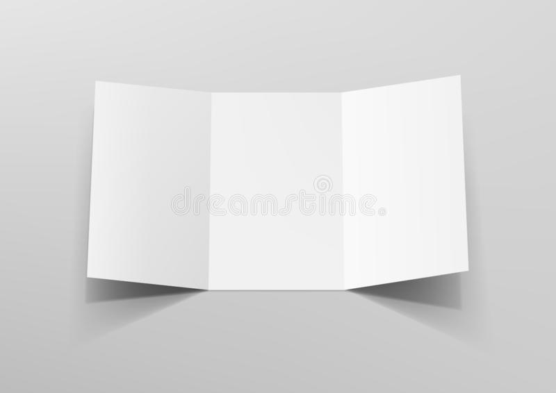 Realistic Tri-Fold A5 Or A4 Brochure Mockup. EPS10 Vector royalty free illustration