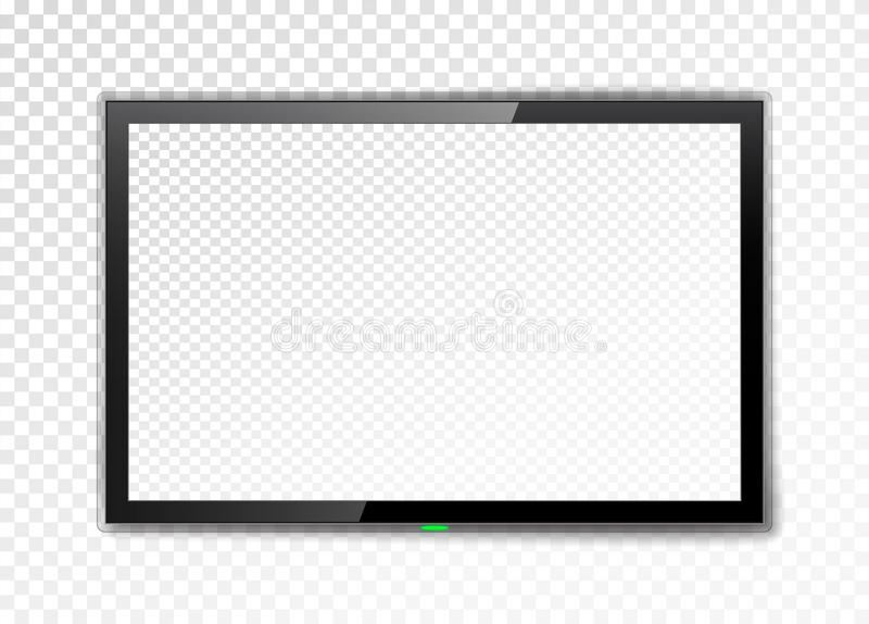 Realistic TV screen. stock illustration